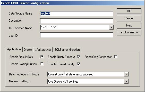 How to Configure the ODBC on Oracle XE Client | DB Tricks